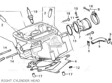 Honda Cx500 1981 b General Export   Kph Right Cylinder Head