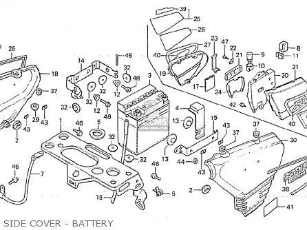 Honda Cx500 1981 b General Export   Kph Side Cover - Battery