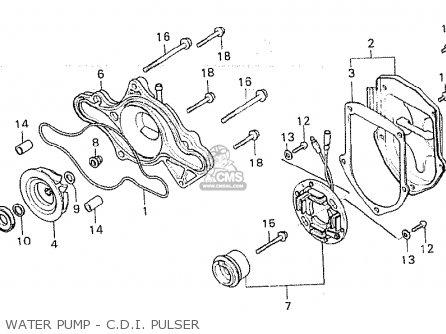 Honda Cx500 1981 b General Export   Kph Water Pump - C d i  Pulser