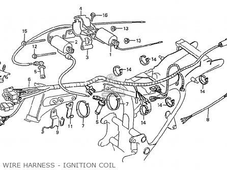Honda Cx500 1981 b General Export   Kph Wire Harness - Ignition Coil