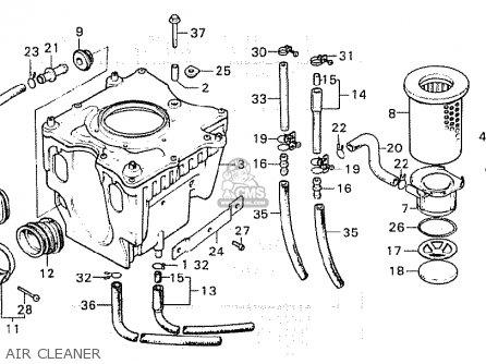 Honda Cx500 1981 b General Export   Mph Air Cleaner
