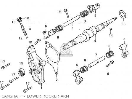 Honda Cx500 1981 b General Export   Mph Camshaft - Lower Rocker Arm
