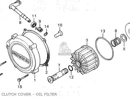 Honda Cx500 1981 b General Export   Mph Clutch Cover - Oil Filter