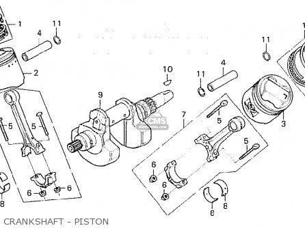 Honda Cx500 1981 b General Export   Mph Crankshaft - Piston