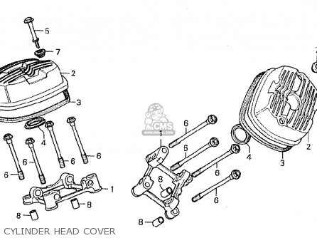 Honda Cx500 1981 b General Export   Mph Cylinder Head Cover