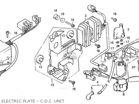 Honda Cx500 1981 b General Export   Mph Electric Plate - C d i  Unit