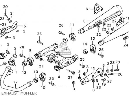 Honda Cx500 1981 b General Export   Mph Exhaust Muffler