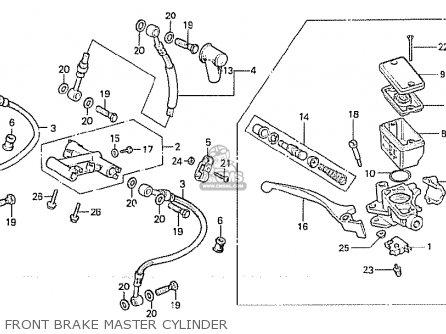 Honda Cx500 1981 b General Export   Mph Front Brake Master Cylinder