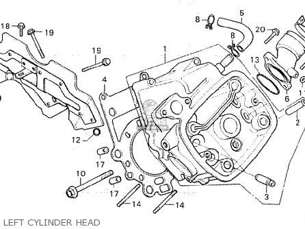 Honda Cx500 1981 b General Export   Mph Left Cylinder Head