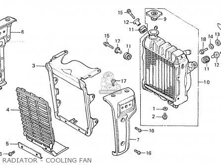 Honda Cx500 1981 b General Export   Mph Radiator - Cooling Fan