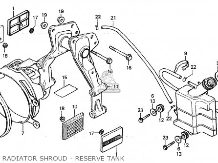 Honda Cx500 1981 b General Export   Mph Radiator Shroud - Reserve Tank