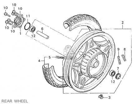 Honda Cx500 1981 b General Export   Mph Rear Wheel