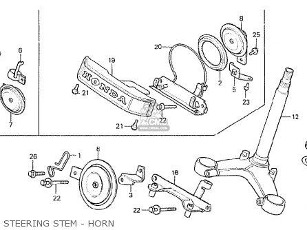 Honda Cx500 1981 b General Export   Mph Steering Stem - Horn