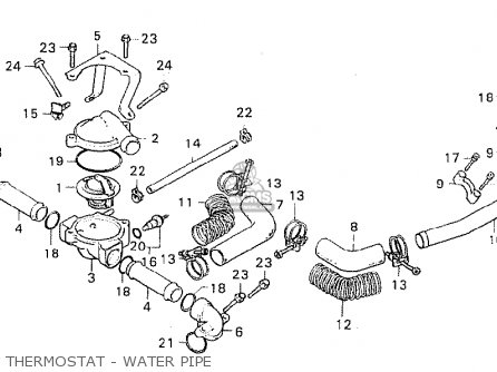 Honda Cx500 1981 b General Export   Mph Thermostat - Water Pipe