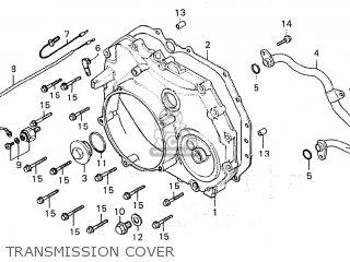 Honda Cx500 1981 b General Export   Mph Transmission Cover