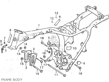 Honda Cx500 1981 b Germany   27ps Frame Body