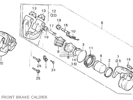 Honda Cx500 1981 b Germany   Full Power Front Brake Caliper