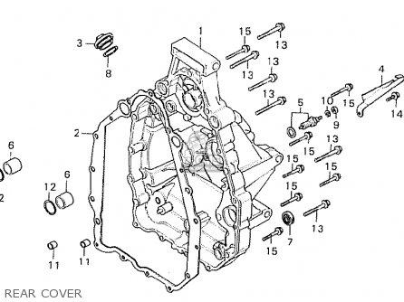 Honda Cx500 1981 b Germany   Full Power Rear Cover
