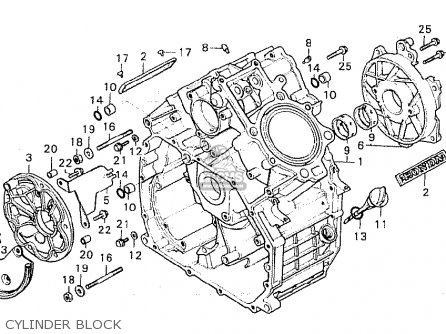 Honda Cx500 1981 b Italy Cylinder Block