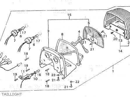Honda Cx500 1981 b Italy Taillight
