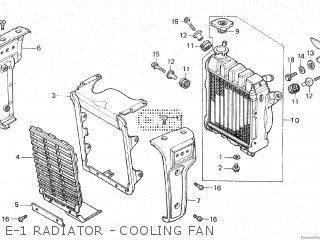Honda Cx500c 1982 c Canada E-1 Radiator - Cooling Fan