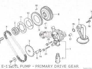 Honda Cx500c 1982 c Canada E-11 Oil Pump - Primary Drive Gear