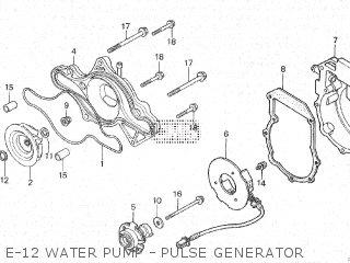 Honda Cx500c 1982 c Canada E-12 Water Pump - Pulse Generator
