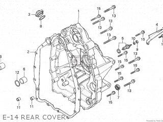Honda Cx500c 1982 c Canada E-14 Rear Cover