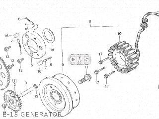 Honda Cx500c 1982 c Canada E-15 Generator