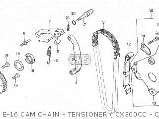 Honda Cx500c 1982 c Canada E-16 Cam Chain - Tensioner  Cx500cc - Cm