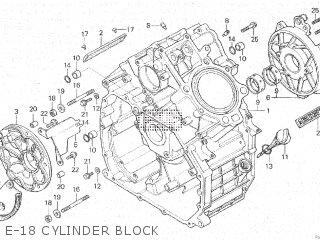 Honda Cx500c 1982 c Canada E-18 Cylinder Block