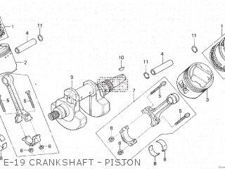 Honda Cx500c 1982 c Canada E-19 Crankshaft - Piston