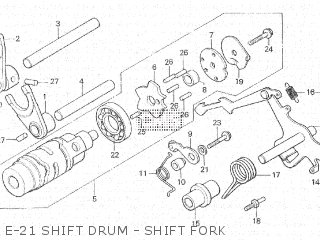 Honda Cx500c 1982 c Canada E-21 Shift Drum - Shift Fork