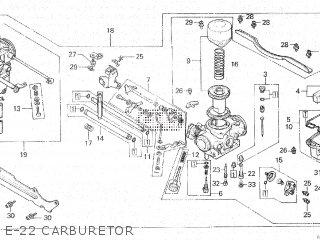 Honda Cx500c 1982 c Canada E-22 Carburetor