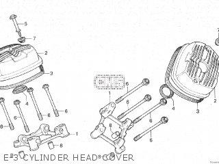 Honda Cx500c 1982 c Canada E-3 Cylinder Head Cover