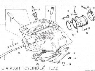 Honda Cx500c 1982 c Canada E-4 Right Cylinder  Head