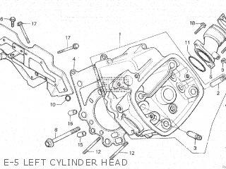 Honda Cx500c 1982 c Canada E-5 Left Cylinder Head