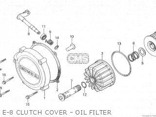 Honda Cx500c 1982 c Canada E-8 Clutch Cover - Oil Filter