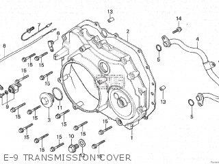 Honda Cx500c 1982 c Canada E-9 Transmission Cover