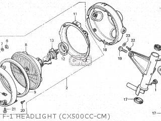 Honda Cx500c 1982 c Canada F-1 Headlight cx500cc-cm