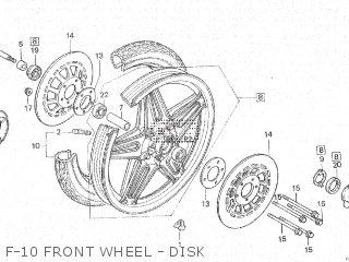 Honda Cx500c 1982 c Canada F-10 Front Wheel - Disk