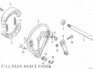 Honda Cx500c 1982 c Canada F-11 Rear Brake Panel