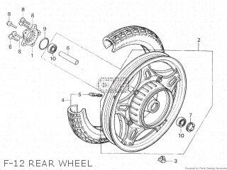 Honda Cx500c 1982 c Canada F-12 Rear Wheel