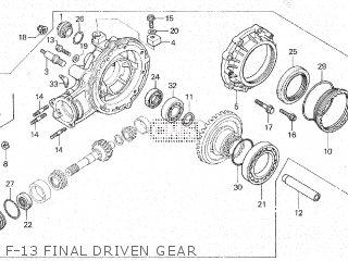Honda Cx500c 1982 c Canada F-13 Final Driven Gear