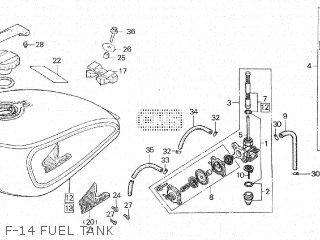 Honda Cx500c 1982 c Canada F-14 Fuel Tank