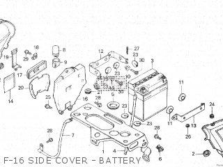 Honda Cx500c 1982 c Canada F-16 Side Cover - Battery