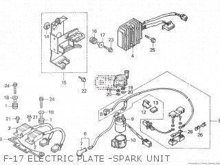 Honda Cx500c 1982 c Canada F-17 Electric Plate -spark Unit