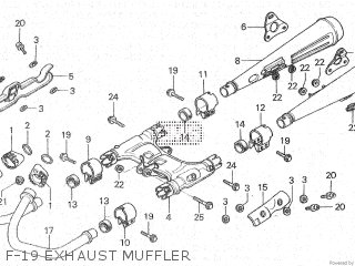 Honda Cx500c 1982 c Canada F-19 Exhaust Muffler