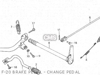 Honda Cx500c 1982 c Canada F-20 Brake Pedal - Change Pedal