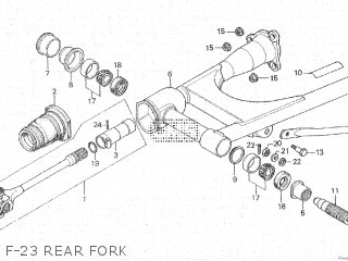 Honda Cx500c 1982 c Canada F-23 Rear Fork
